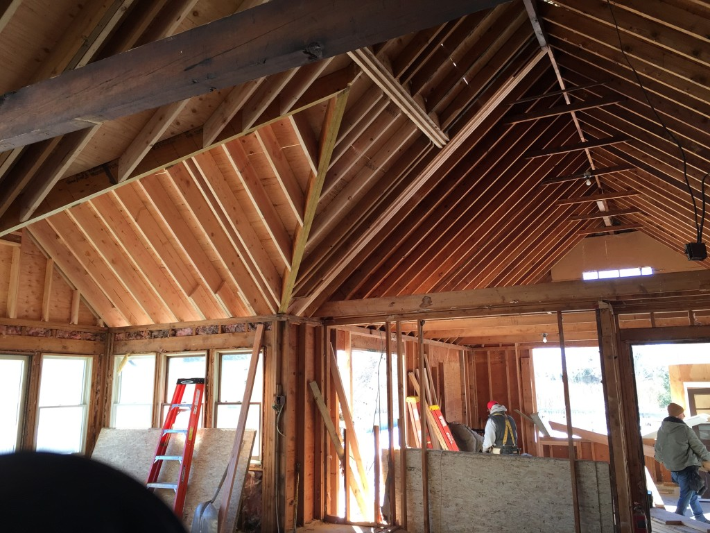 Structural framing vaulted ceilings for Half vaulted ceiling with beams